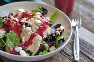Chicken Lunchtime Salad with Fresh Cherry Vinaigrette