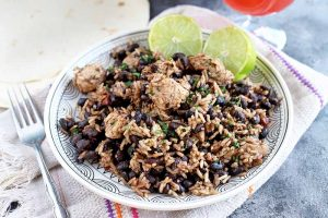 Chili Lime Chicken with Black Beans and Rice