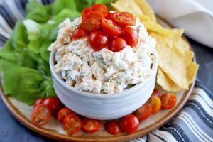 The Easiest Appetizer Ever: Corn & Cream Cheese Dip with Cherry Tomatoes