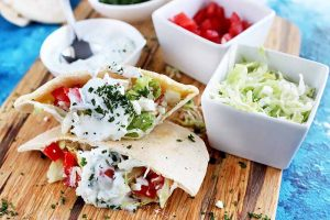 Get a Taste of the Mediterranean with Super Easy Greek Chicken Pitas