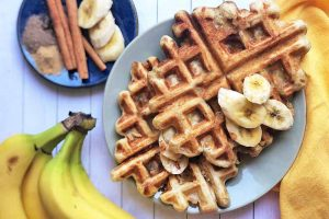 A Perfect Breakfast Mashup: Overnight Banana Bread Yeast Waffles