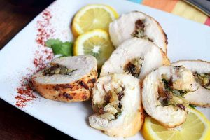Chicken Roulade Is Full of Color and Flavor