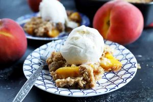 Incredibly Easy Peach Crisp to Celebrate Stone Fruit Season