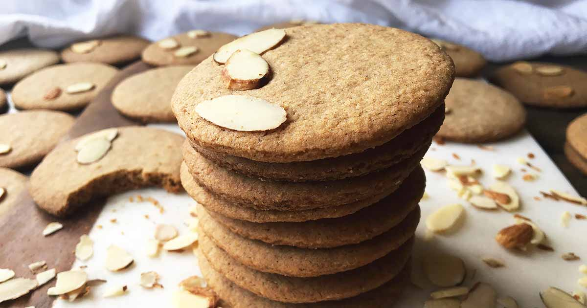 Spelt Flour Spiced Almond Wafer Cookies
