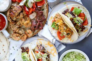 Grilled Steak, Chicken & Shrimp Fajitas: Hear the Sizzle in a Whole New Way