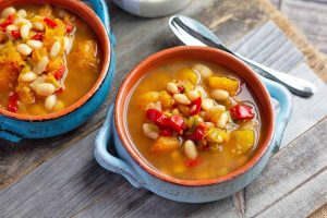 Slow Cooker Vegetarian White Bean Chili with Butternut Squash