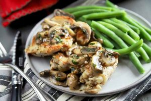 Easy Chicken with Rosemary and Mushrooms Makes Weeknight Dinner a Breeze