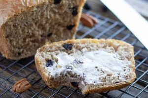 Whole Wheat Pecan Bread with Dried Blueberries: Your New Favorite Sandwich Bread