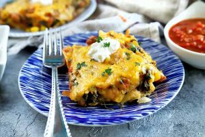 Make Dinner Easy with Stacked Vegetable Enchiladas (Enchiladas Montadas)