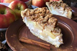 Layer Like It's Fall with Apple Cream Cheese Streusel Pie