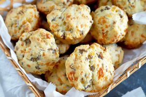 Homemade Sausage Cheese Biscuits for a Quick and Easy Breakfast