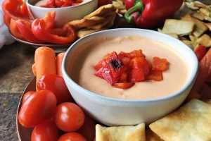 Pep Up Any Party with Creamy Roasted Red Pepper Dip