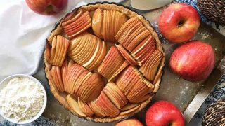 French Apple Tart With A Maple Syrup Glaze Foodal