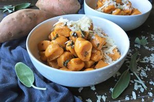 Sweet Potato Gnocchi with a Sage Brown Butter Sauce