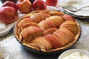 French Apple Tart with Maple Syrup Glaze