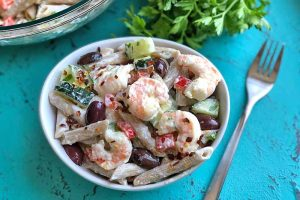 Creamy Greek Pasta with Shrimp