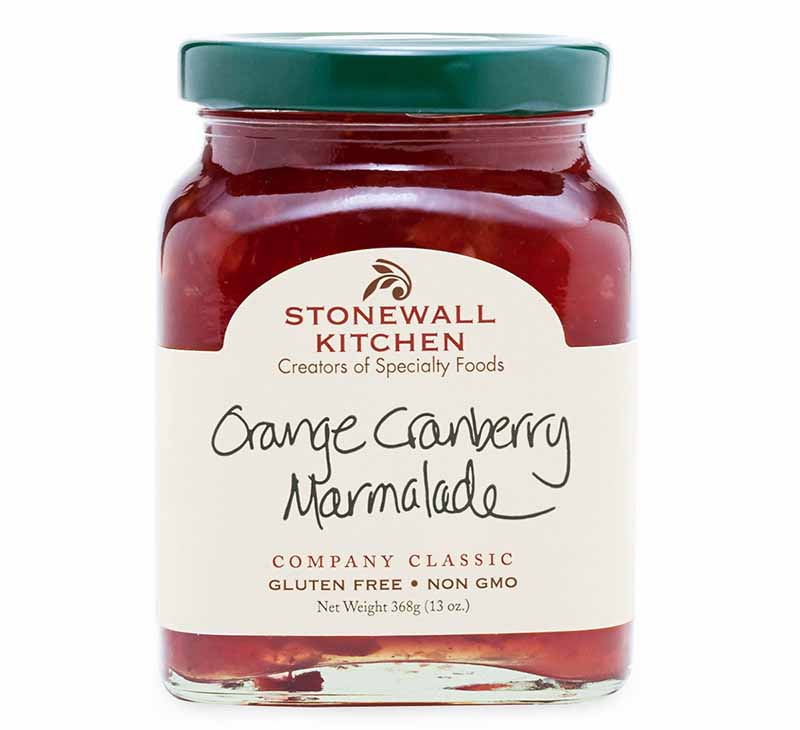 Horizontal image of a Stonewall Kitchen Orange Cranberry Marmalade.