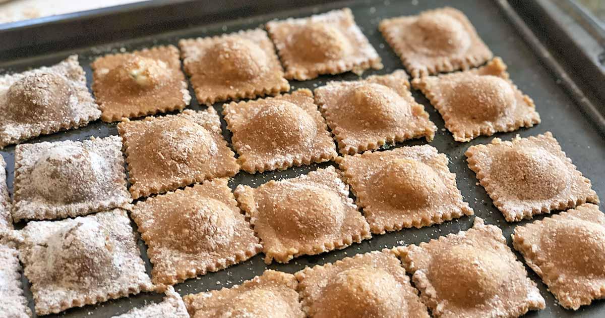Homemade Spelt Ravioli With Ricotta Cheese Filling Recipe Foodal
