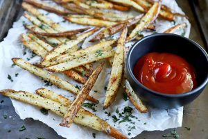 Homemade Baked French Fries for Two
