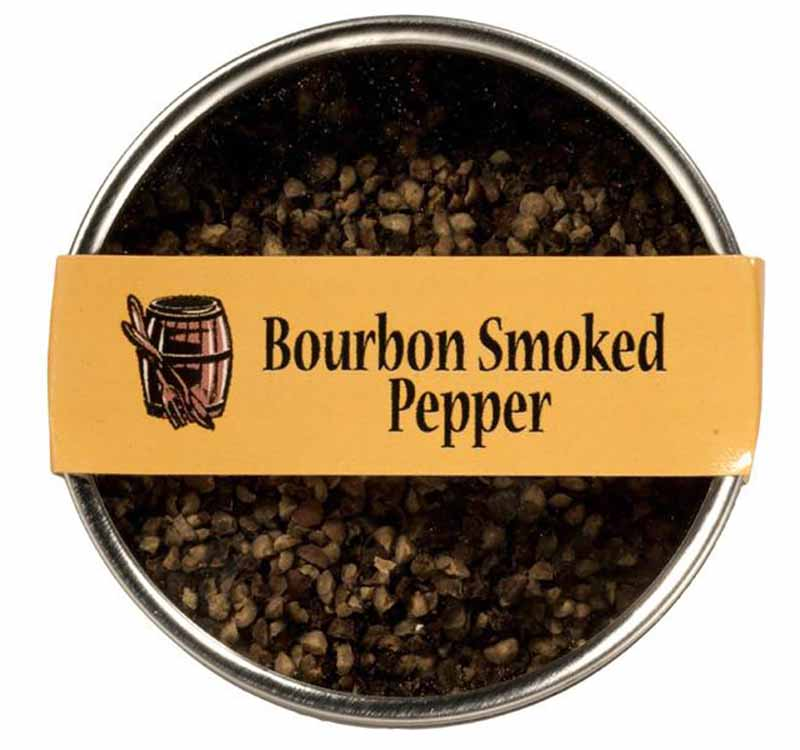 Image of Bourbon Barrel Foods Bourbon Smoked Pepper in a canister.