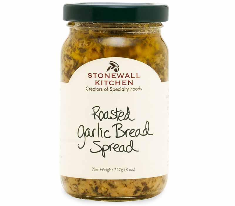 Image of a jar of Roasted Garlic Bread Spread.