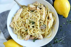Bright, Light & Lemony 30-Minute Pasta with Grilled Chicken