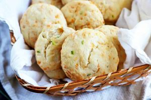 Quick and Easy Sourdough Biscuits with Cheese and Chives