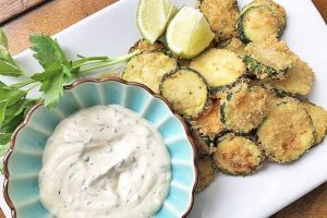 Fried Zucchini with Citrus Sauce