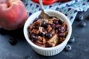 Sweet-Tart Blueberry Peach Crisp to Celebrate Summer