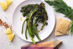 Roasted Broccolini with Chili, Lemon, and Dill