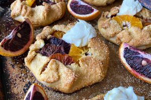Mini Orange Crostatas with Mascarpone Cheese