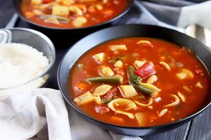 Classic Minestrone Soup to Warm Up on Cold Days (Vegetarian)