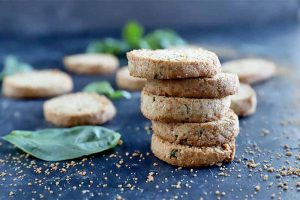 Slice and Bake Gluten-Free Basil Shortbread Cookies