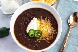 Quick Black Bean Soup (Vegetarian)