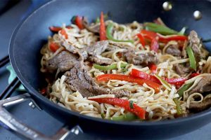 The Easiest Beef and Pepper Lo Mein Always Beats Takeout