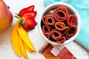 Dried Mango-Strawberry Fruit Rolls