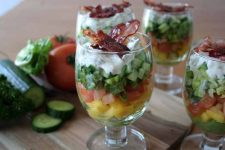 A Beautiful & Delicious Layered Salad | Foodal.com
