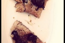 Top view image of delicious blueberry scones.