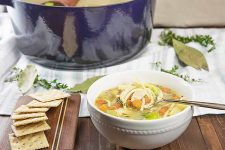 Serve our recipe for chicken noodle soup for dinner tonight.   Foodal.com