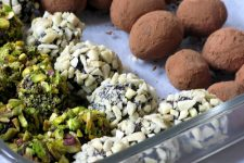 Close up of dark chocolate truffles | Foodal