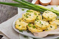 Mini Green Onion Frittatas with Peas and Feta | Foodal.com