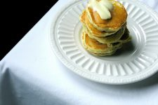 A plate of Orange Coconut Silver Dollar Pancakes | Foodal