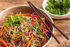 Colorful and healthy soba noodle salad. | Foodal.com