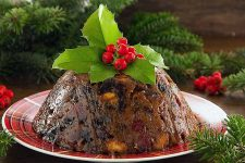 A Plate of Finished Figgy Pudding | Foodal.com
