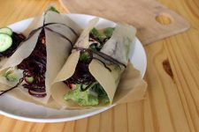 Healthy Wraps with Spiralized Beet Noodles | Foodal.com