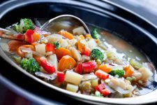 vegetable stew in a crock pot